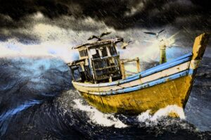 painting-old-boat-in-storm