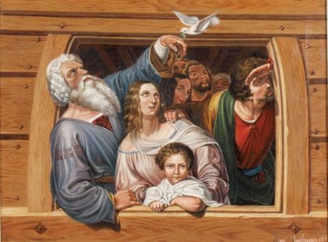 """""""csak Noé maradt meg és azok, akik vele voltak a bárkában.."""" (1Móz 7,23)"""