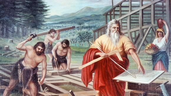 """""""Noé mindent aszerint cselekedett, amint az Úr neki megparancsolta"""" (1Móz 6, 22)"""